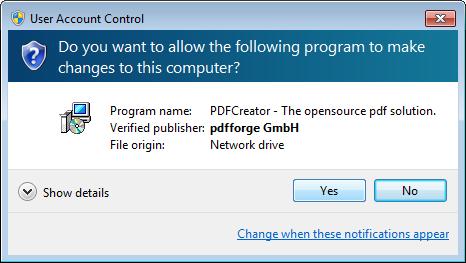 Installing the PDF Creator Printer Driver | Profile SCADA User Manual