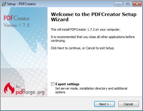 Installing the PDF Creator Printer Driver | Profile SCADA