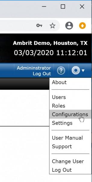 Profile Settings Menu Configurations