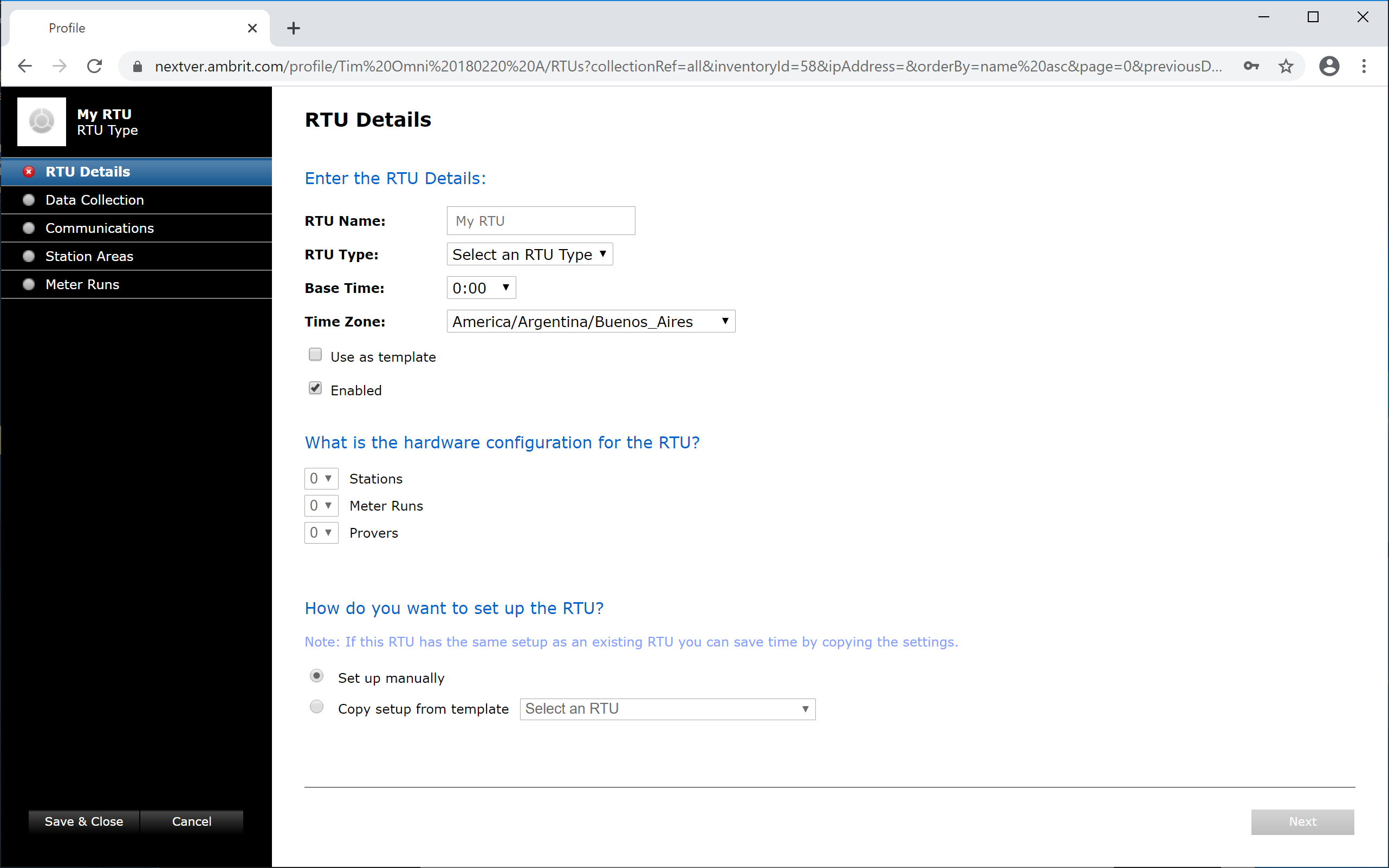 RTU Details Blank